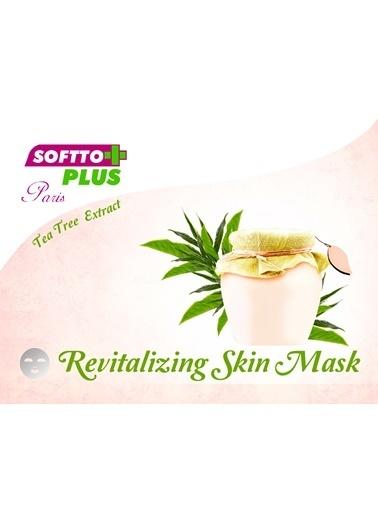 Softto Plus Çay ağacı özlü maske  2 Adet Renksiz
